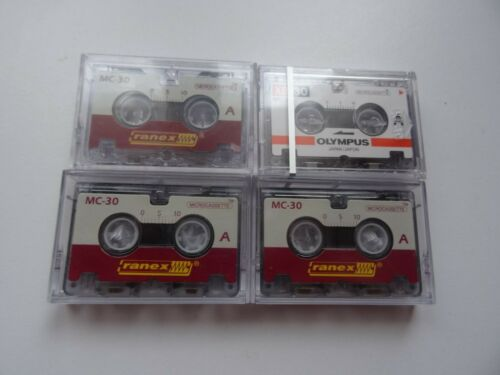 lot of 4 retro VINTAGE Microcassette mc 30
