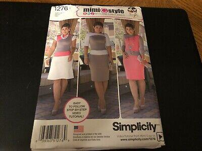 Simplicity Pattern 1276 Ms MIMI G STYLE Knit Dress w/Bodice & Skirt (Vogue Vogue)