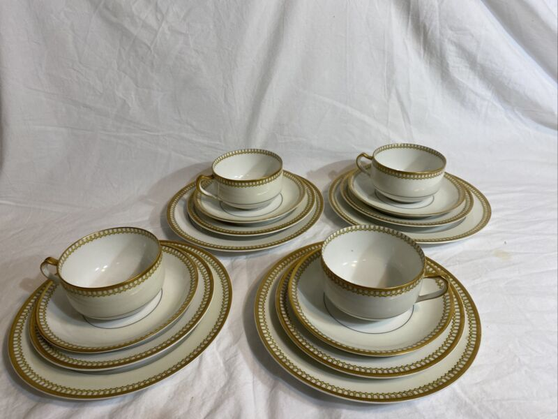 Limoges Haviland France Tea Cup Service For 4 /16 Pieces