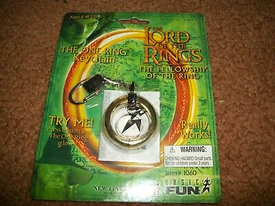 NEW The ONE RING Glowing Keychain - The Lord of the Rings LOTR Item# 1060