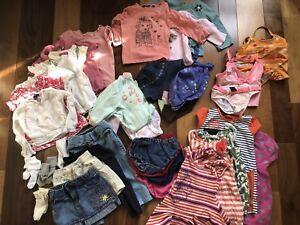 Baby Girl Summer Clothes 7-13 months- Lot 35 items