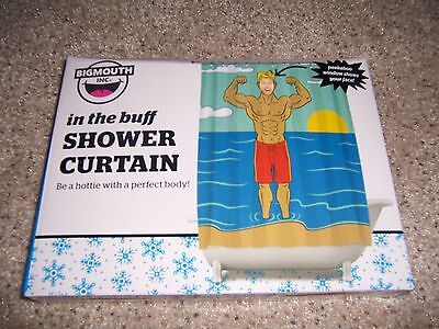 Big Mouth In the Buff Shower Curtain College Dorm Boys shower - Boys In The Shower