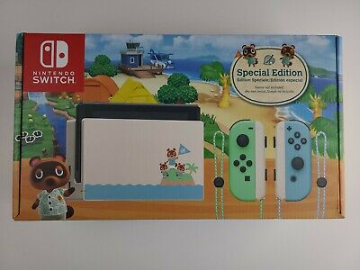 Nintendo Switch Animal Crossing New Horizons Edition 32GB Console Factory Sealed