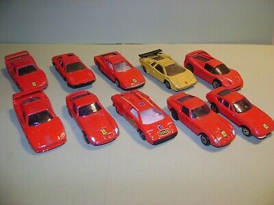 MARQUES DIVERS - MAISTO ETC.... LOT 10 VOITURES 1/64 FERRARI