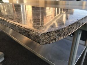Brand new countertop with finished sides