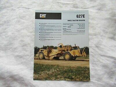 1990 Cat 627e Wheel Tractor Scrapers Brochure
