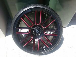 Hussla rims with lexani tyres 235/30/20 all in as new cond Wellard Kwinana Area Preview