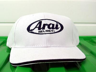 Genuine Arai white Motorcycle baseball cap visor helmet Moto GP TT