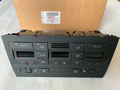 Genuine Audi A4 S4 HVAC Temperature Control Panel  8E0-820-043-AH-5PR  2002-2008