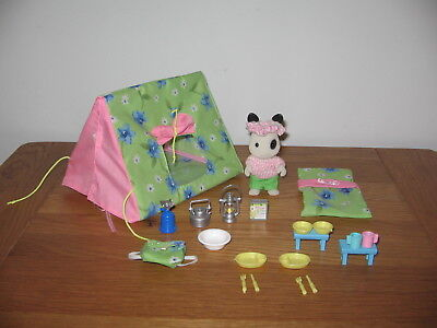 Used, Sylvanian Families Ingrid's camping - Ingrid Blackberry rabbit & accessories  for sale  Shipping to Nigeria