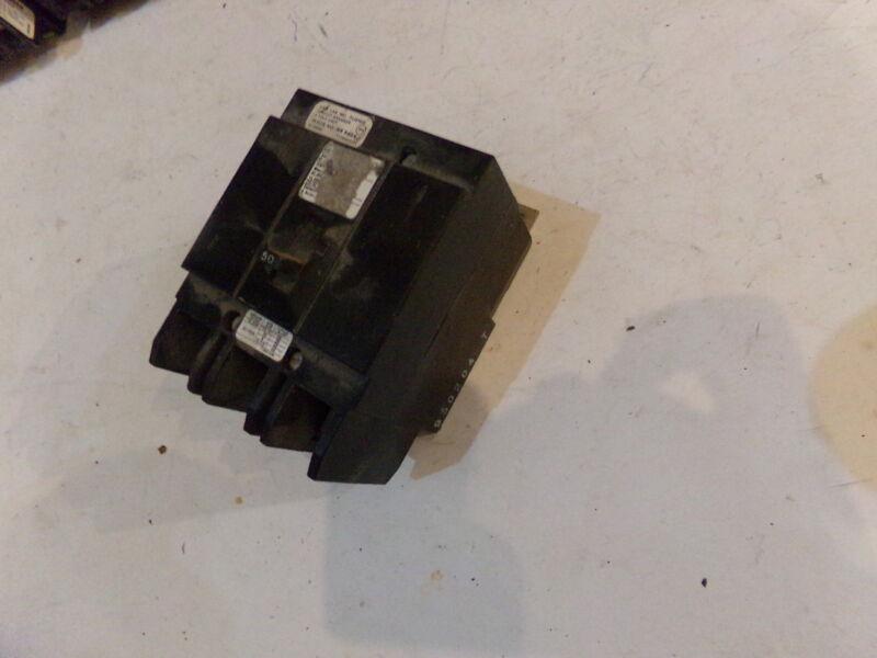 EATON / CUTLER HAMMER /CHALLENGER Type BQCH Circuit Breaker 3 Pole 50 Amp - USED
