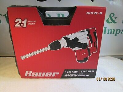 Bauer Rotary Hammer Drill Sds Max-type Pro Variable Speed 10.5a New
