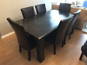 """Custom built solid pine  dining table 78"""" 42""""  Expresso color"""