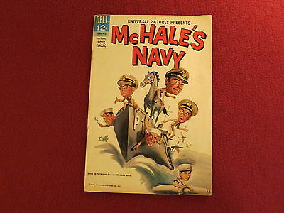 """1964 1ST ISSUE """" McHALE'S NAVY  """" MOVIE CLASSIC COMIC BOOK DELL UNIVERSAL STUDIO"""