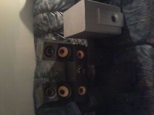 RCA 5 speaker surround sound system & Electrohome amp/subwoofer
