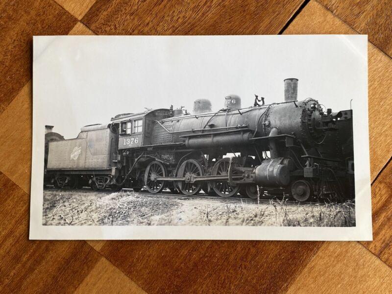 Chicago North Western Railroad Locomotive 1376 Vintage Photo C&NW