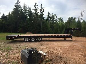 30' SWS flat deck fifth wheel float trailer