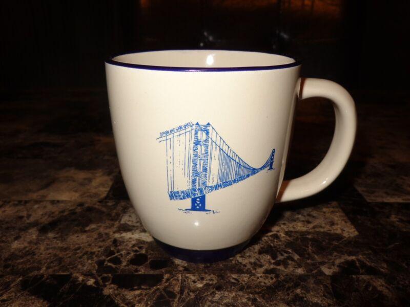Simon and Garfunkel Rare Official 14oz Coffee Bistro Mug Cup Glass Paul Art NEW