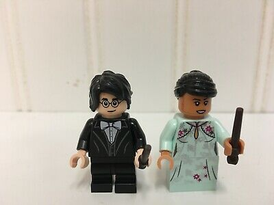 New Lego Harry Potter & Cho Chang Minifigures ~ Yule Winter Ball Attire ~