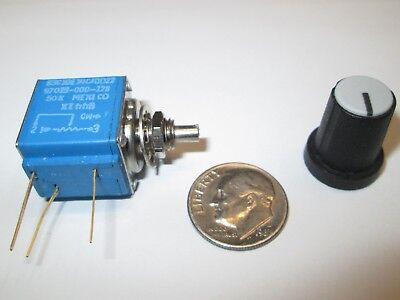 Bourns 50k Ohm 10-turn 1w Wire Wound Potentiometer Wknob Model 83c1 Nos