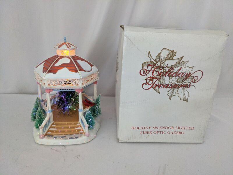 2002 Avon Holiday Treasures Splendor Lighted Fiber Optic Gazebo Christmas...