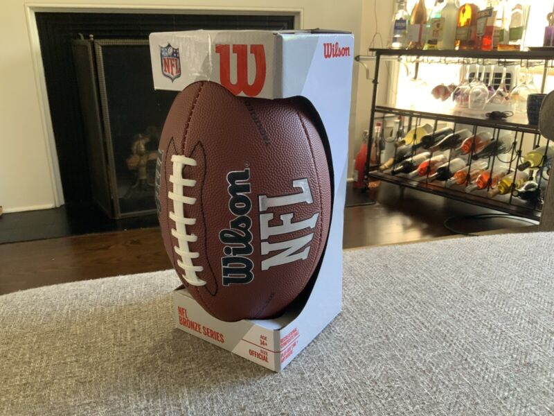 Wilson NFL Official Size Football Bronze Series Leather Ball MVP NEW IN BOX