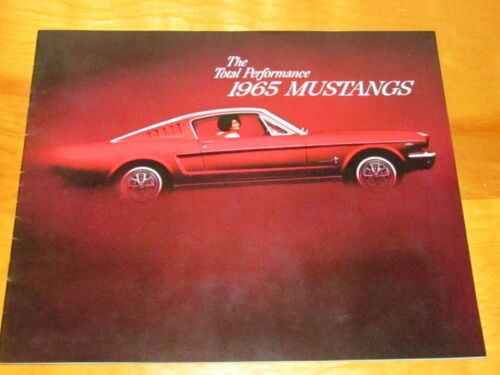 1965 Mustanks Dealership Brochure Catalog Manual Original
