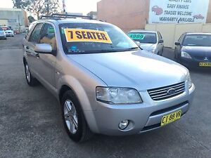 2005 Ford Territory Wagon AWD 7 SEATER GHIA AUGUST/2017 rego Clyde Parramatta Area Preview