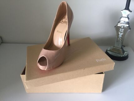 Wanted: Christian Louboutin Nude Peep Toes Size 7