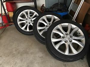 17 inch Mazda 3 wheels with good rubber