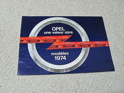 1974 OPEL (GERMANY) SALES BROCHURE...