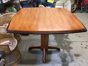 Counter height two toned dining table