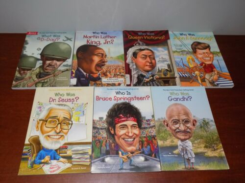 Lot of 7 WHO HQ books  - Who Is What Was PB Children
