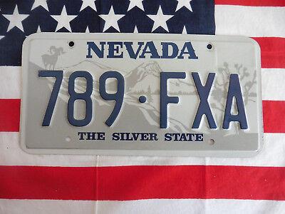 US NEVADA 789 FXA SILVER STATE AUTO KENNZEICHEN NUMMERNSCHILD PLATE SCHILD USA I