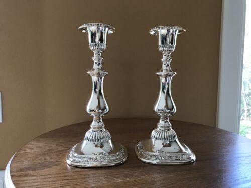 "Reed & Barton Elegant Silver Candle Sticks Holders Sulgrave Manor? 9.75"""
