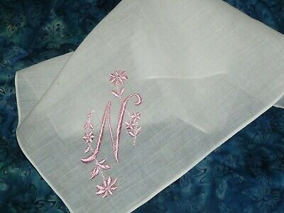 Embroidered Handkerchiefs -Parents of the Bride Simply Sweet Hankies Parents of the Groom Set of 5 Personalized Wedding Gift