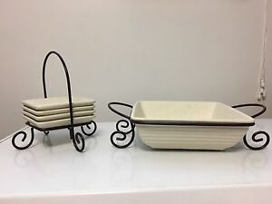Serving Dish and Serving Plates with Racks