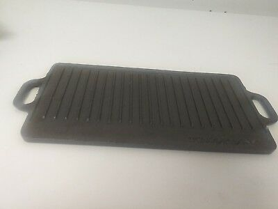 (Texsport Cast Iron Grill Pan Griddle Pre Owned)