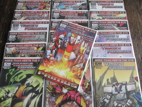 IDW 2012 TRANSFORMERS MORE THAN MEETS THE EYE Comic Book Issues #1-18 + Annual
