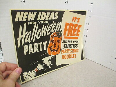 Lots Of Halloween Candy (Curtiss candy bar 1950s halloween witch pumpkin premium comic book store)