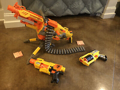 Lot Nerf Guns Including Vulcan EBF-25