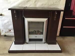 Electric 1800w heater in custom made fireplace surround Burpengary Caboolture Area Preview
