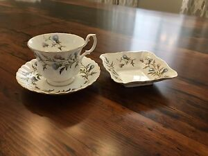 Bone China Cup & Saucer and Candy Dish