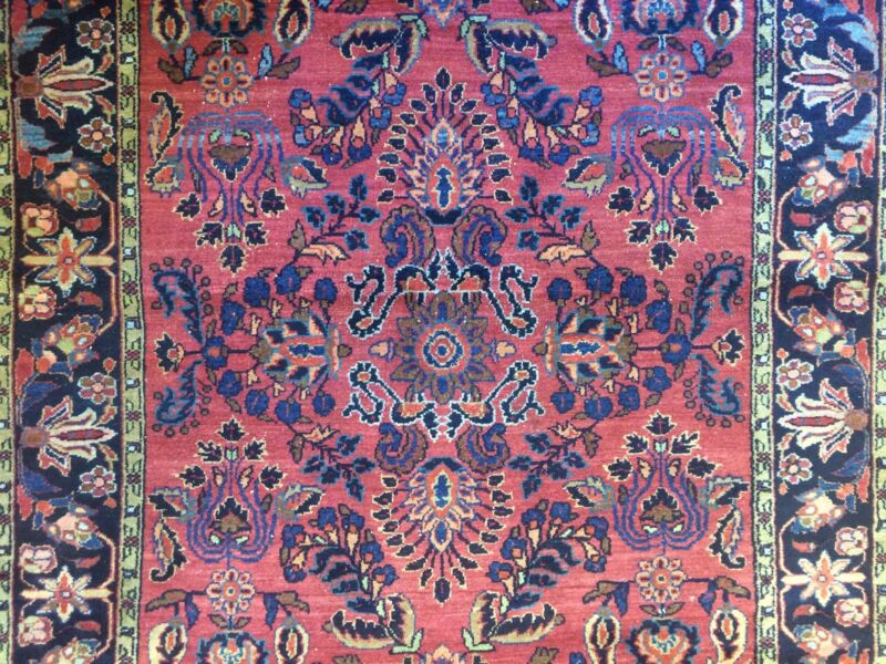 Fantastic Floral - 1920s Antique Oriental Rug - Handmade Carpet - 4.6 X 6.6 Ft