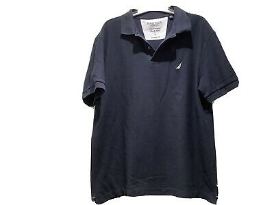 MENS Large Nautica Polo Shirt. Short Sleeve, Dark Blue