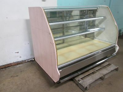 Columbus H.d. Commercial Lighted Curved Glass Refrigerated Bakery Display Case