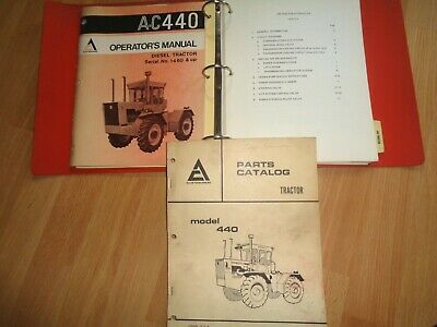 Allis Chalmers 440 Tractor Operators Manual Parts Catalog Service Sections Oem