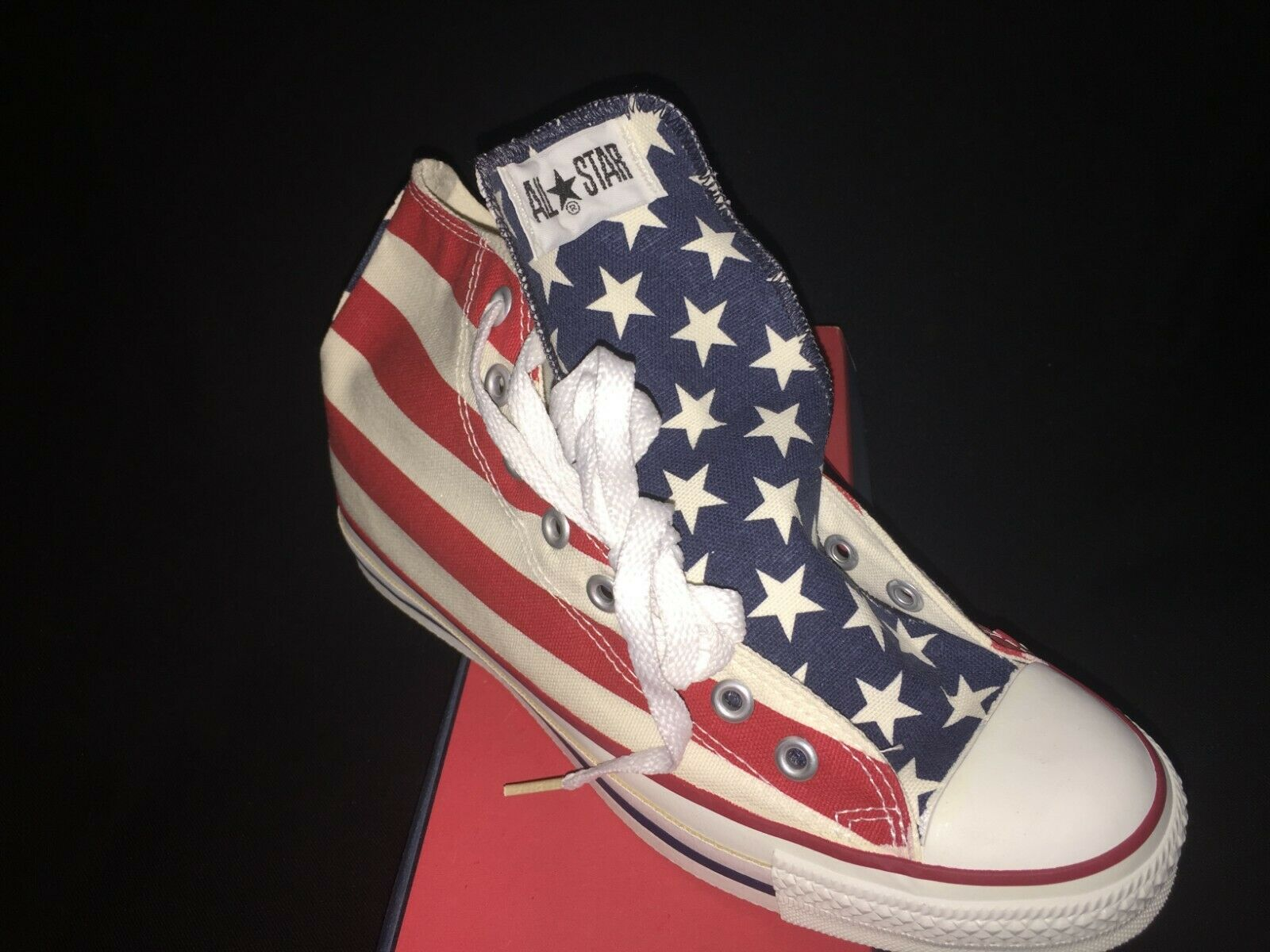 Converse All Star Chuck Taylor Stars & Bars pattern (vintage NOS made in USA)