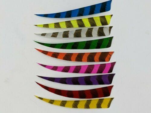 "TrueFlight 5"" Shield Barred Feathers - 12 Pack, RW or LW"