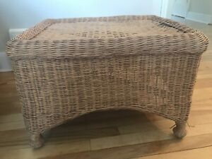 Wicker foot rest, Pier 1, $10